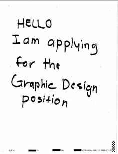 Haha. Or, actually I am! I would like to join the creative team at your fun, brave and bold Design studio. With over six years of experience within the field of visual communication I'm now looking for work in the Copenhagen/Øresund region. I can offer you my excellent communication and graphic skills, innovative ideas and a hard-working spirit. Contact information and examples of my previous work can be found at: www.emmamargareta.com. I would love to hear from you!