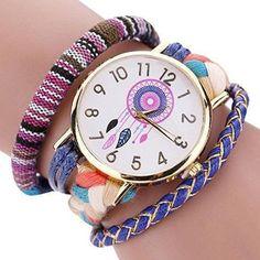 Oferta: 3.99€. Comprar Ofertas de Sannysis Dreamcatcher Amistad Pulsera Relojes vestido de las mujeres del reloj de la trenza (Azul) barato. ¡Mira las ofertas!