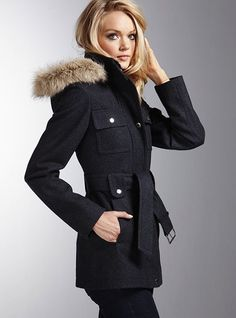 Duffle Coat - Laundry by Shelli Segal® - Victoria's Secret  It's like a fitted parka!