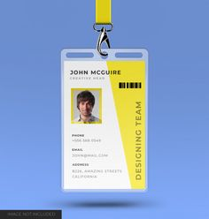 Corporate Office Id Card Design With Mockup Id Card Design, Mockup, Templates, Paper, Pure Silk, Silk Sarees, Aztec, Men's Fashion, Graphic Design