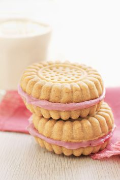 Strawberry Cream–Filled Sandwich Cookies  - CountryLiving.com