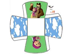 Masha and the Bear: Free Printable Boxes.