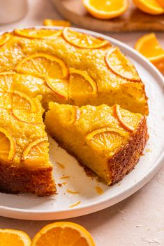 A syrupy phyllo yogurt citrus cake Greek Sweets, Greek Desserts, Greek Recipes, Amish Recipes, Healthy Cake Recipes, Fun Baking Recipes, Delicious Desserts, Portokalopita Recipe, Greek Cake