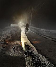 The first snowfall, 2012 - by Elana Shumilova (1981), Russian