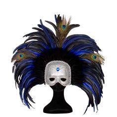 Antifaz de Plumas Plata #mascaras #antifaces #carnaval