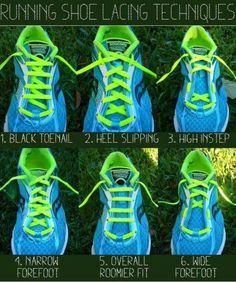 Shoe laces tecniques; Good to know! #LifeHacks