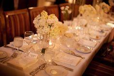 Wedding reception table detail.