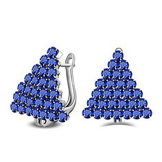 7c277d6f1 Chic Womens 925 Sterling Silver 28 Blue Cz Christmas tree Earring Give the  Girl the Best