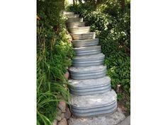 29 idées de bricolage pour faire des escaliers et des marches de jardin