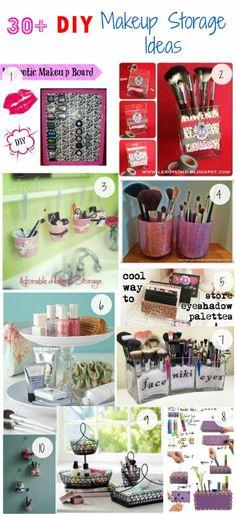 Click Pick for 34 DIY Makeup Storage Ideas | Small Closet Organization Ideas | DIY Makeup Organizer Ideas