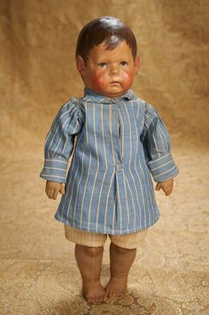 "17"" German Cloth Character Doll, Early Series I, by Kathe Kruse 900/1200"