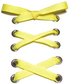 Yellow Narrow Grosgrain Ribbon Shoelaces ✿ Our beautiful ribbon shoelaces make your ordinary shoes look extraordinary ✿