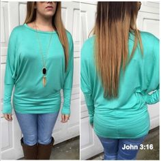 Dolman tunic tops in mint Rayon jersey top with dolman sleeves in                    MINT.....Price is firm unless bundled. 95% rayon 5% spandex XL(14) Tops