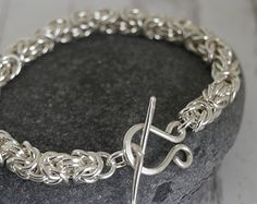 Sterling Silver Chain Bracelet Ecofriendly Chunky by Linkouture