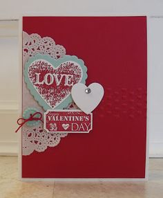 by Sandy Dixon, stamping sanity: Collage Valentine