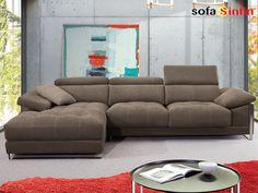Sofá con chaise-longue modelo Brandon fabricado por Divani Star en Sofassinfin.es