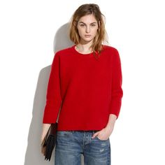 Gridstitch Sweater - if the red is as neutral-to-blue as it looks on my screen, awesome. Otherwise, the navy is gorgeous.