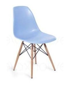 Molded Plastic Side Chairs with Dowel Legs - Blue - http://www.furniturendecor.com/molded-plastic-side-chairs-with-dowel-legs-blue/ - Categories:Dining Chairs, Dining Room Furniture, Furniture, Home and Kitchen