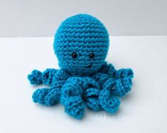 What a cute little amigurumi octopus from You Never Know by Andrea VanHooser Womack. Make one with Vanna's Choice!