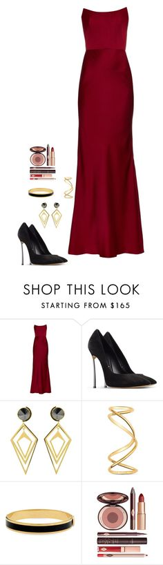 """Untitled #420"" by h1234l on Polyvore featuring Alexander McQueen, Casadei, Sarah Magid, Maison Margiela, Halcyon Days and Charlotte Tilbury"