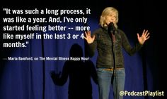 Maria Bamford quote about mental health and being bipolar.