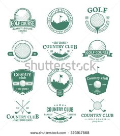 Set of golf country club logo templates. Golf labels with sample text. Golf…