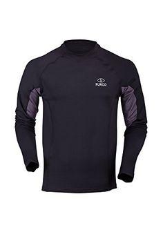 Furco Fugen - Camiseta térmica para hombre, color negro / gris oscuro, talla S #camiseta #friki #moda #regalo