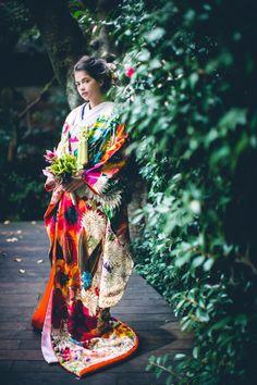 GALLERY – 南青山の花嫁着物レンタルサロン CUCURU(くくる) Japanese Yukata, Japanese Costume, Japanese Outfits, Japanese Fashion, Yukata Kimono, Kimono Dress, Kimono Style, Oriental, Geisha