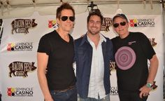 Evan Golden with Legendary Actor Kevin Bacon and his brother Michael Bacon from the Band http://baconbros.com/