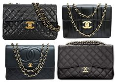 a2bd6bd603 borsa chanel 2.55 grande nera: outfit ispirazione chanel bag jumbo 2.55 big  black outfits Handtaschen