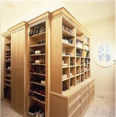 Using only the best hardware, with no construction detail overlooked, our custom cabinetry is built for a lifetime of use. We will work with you to design cabinetry that meets your specific needs. Perhaps you need extra tall cabinets for gowns or long coats. Or you may want extra cubbies to house your ever-growing shoe collection. It's your dream closet, so dream big and let us bring it to life for you.