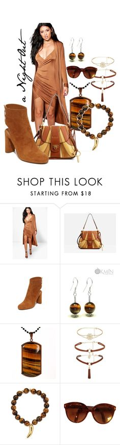 """""""wicked sexy camel night out, I do wear my sunglasses at night"""" by caroline-buster-brown ❤ liked on Polyvore featuring Boohoo, Chloé, IRO, West Coast Jewelry, Pembe Club, Tom Ford and NightOut"""