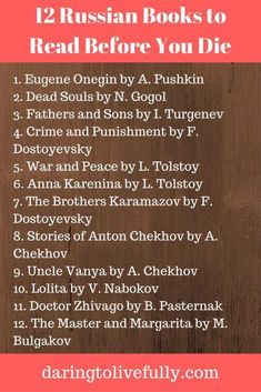 #Books to read before you die, or simply #reading suggestions for this #Christmas have you read them? #Russian #literature