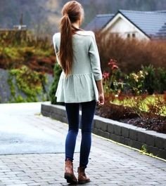 Adorable sweater with skinny legged pant