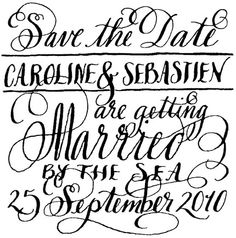 way better than the ones I normally get in the mail...  I am not getting married again, but if I were - this is the announcement I would use!  So creative and lovely!