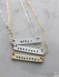 CUSTOM NAMETAG NECKLACE BLK AND NOIR