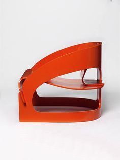 Model 4801 chair, 1963 by Joe Colombo (moulded plywood with pigmented polyester varnish, rubber spacers)
