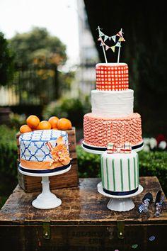 I love a tastefully fun wedding cake :) | Photography by megperotti.com, cakes by http://www.glassslippergourmet.com/ | LFF Designs | www.facebook.com/LFFdesigns