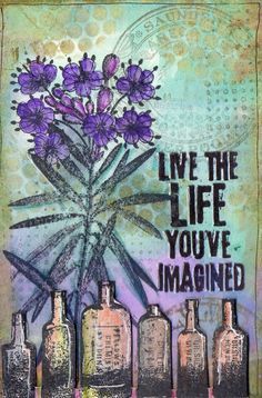 Live The Life You've Imagined by Mandy C | That's Blogging Crafty!