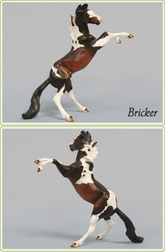 Bricker (Stone Chip Rearing Horse) - Model Horse from Stone Horses
