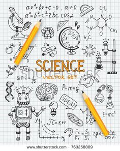 Science - Best Education World Education World, Science Education, Physical Education, School Book Covers, Chemistry Art, Physics Formulas, Science Icons, Drawing Journal, E Mc2