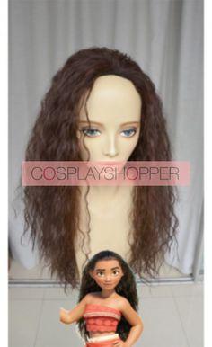 Brown 70cm Disney Movie Moana (Auli'i Cravalho) Cosplay Wig Moana Cosplay, Disney Cosplay Costumes, Cosplay Wigs, Tailor Shop, Wigs For Sale, Top Stitching, Lolita Fashion, Disney Movies, Perfect Fit