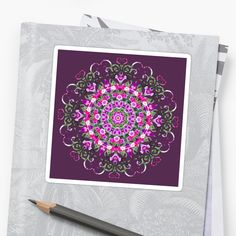 Bright and Cheery Petunias. Removable, individually die-cut vinyl. Ideal for smooth flat surfaces like laptops, journals, windows, etc. 1/8th of an inch white border around each design. Come in Small, Medium, Large, and Extra Large. #stickers #reiki #nature #geometric #patterns #kaleidoscopes #mandalas #abstract #flowers
