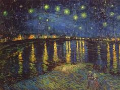 Starry Night Over the Rhone, ca. 1888 Kunsttryk