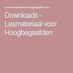 Downloads - Lesmateriaal voor Hoogbegaafden Spelling, Coaching, Homeschool, Twisters, Adhd, Montessori, Seo, Houses, Creative