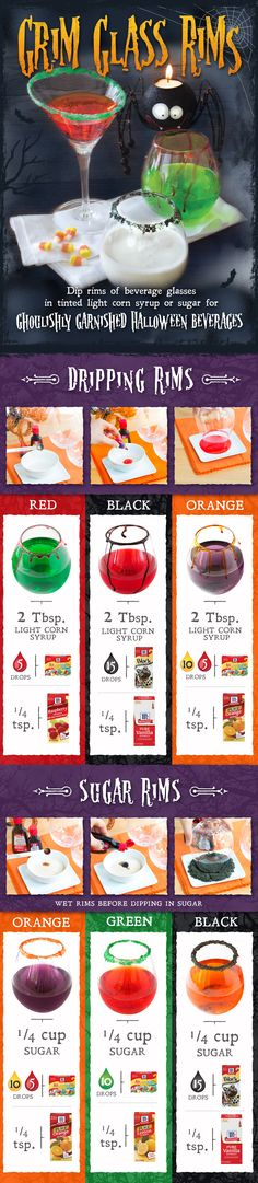 Throwing a Halloween party? Use this easy DIY guide for spooky cocktail rims!