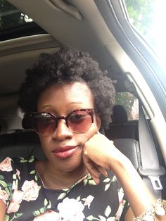 Flat twist out on dry hair. Natural hair. 4c hair. Shades from Lord and Taylor. On my way to Grenada Day '13 (Brooklyn)
