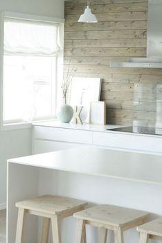 clean design for the kitchen - sweet home Kitchen Interior, New Kitchen, Room Interior, Kitchen Dining, Kitchen Decor, Interior Design, Interior Blogs, Natural Kitchen, Kitchen White