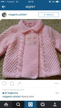 Free Knitting Pattern Baby Cardigan with Cables Baby Cardigan Knitting Pattern Free, Easy Knitting Patterns, Knitting For Kids, Crochet For Kids, Knitting Designs, Baby Patterns, Baby Knitting, Crochet Baby, Cardigan Pattern
