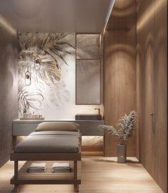 Beauty Salon Design, Salon Interior Design, Interior Design Inspiration, Esthetics Room, Spa Treatment Room, Spa Center, Massage Room, Dressing Table, Resort Spa